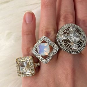 Bundle of 3 Chunky Rings 💍